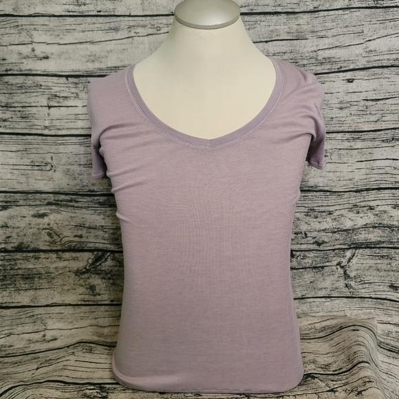 Victoria's Secret V Neck Tee Shirt Light Purple L